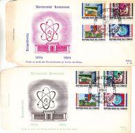 République Du Congo - Lettre De FDC 1964 - Oblit Leopoldville - Armoiries - Université - Chimie - Republiek Congo (1960-64)
