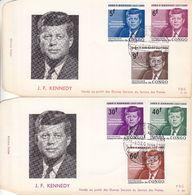 République Du Congo - Lettre De FDC 1964 - Oblit Leopoldville - Kennedy - - Republiek Congo (1960-64)