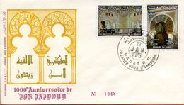 "Maroc;FDC,1976; TP N°750/751 "" 1000ème Anniversaire D'Ibn Zaidoun ""Morocco;Marruecos - Maroc (1956-...)"