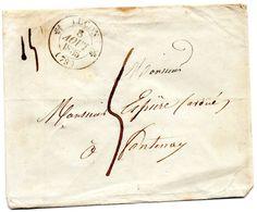 Cachet 12 LUçON,L.S.C. Du 8/8/35 Pour FONTENAY. - Marcophilie (Lettres)