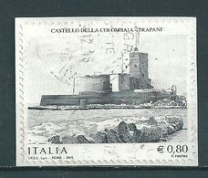 2015 CASTELLO COLOMBAIA TRAPANI USATO - 6. 1946-.. Repubblica
