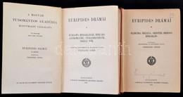 Euripides Drámái II-III. Kötet. Fordította, Bevezetésekkel és Jegyzetekkel Ellátta Csengeri János. Bp.,1915-1919, MTA. K - Bücher, Zeitschriften, Comics