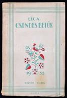 Léc András: Csendes Betűk. Bp., 1935, Kultur,(Radó István-ny.), 32 P. Kiadói Illusztrált Papírkötés. - Bücher, Zeitschriften, Comics