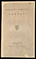 Bezerédy Gergely Versei. Buda, 1836, M. Kir. Egyetemi Betűivel, 2+124 P. Átkötött Modern Egészbőr-kötés, Az Eredeti Papí - Bücher, Zeitschriften, Comics