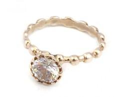 Ezüst(Ag) Szoliter Köves Gyűrű, Jelzett, Méret: 56, Bruttó: 2,7 G - Bijoux & Horlogerie