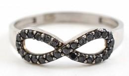 Ezüst(Ag) Végtelen Jeles Gyűrű, Jelzett, Méret: 55, Bruttó: 1,2 G - Bijoux & Horlogerie