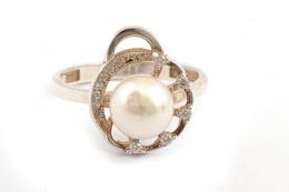 Ezüst(Ag) Gyűrű, Gyöngyös Díszítéssel, Jelzett, Méret: 57, Bruttó: 3,3 G - Bijoux & Horlogerie