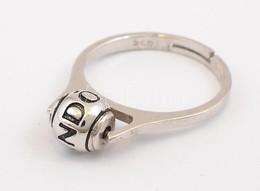 Ezüst(Ag) Gyűrű, állítható Méret, Pandora Jelzéssel, Nettó: 2,63 G - Bijoux & Horlogerie