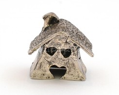 Ezüst(Ag) Miniatűr Házikó, Jelzés Nélkül, 2,5×2,5 Cm, Nettó: 13,3 G - Bijoux & Horlogerie