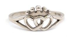 Ezüst(Ag) Szívecskés Gyűrű, Pandora Jelzéssel, Méret: 53, Nettó: 1,5 G - Bijoux & Horlogerie