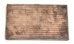Ezüst Névjegykártya Tartó. Jelzett. 9,5x6 Cm 56 G - Bijoux & Horlogerie