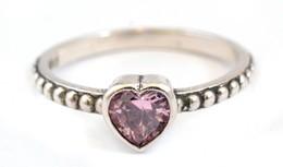 Ezüst(Ag) Rózsaszín Szívecskés Gyűrű, Pandora Jelzéssel, Méret: 54, Bruttó: 1,88 G - Bijoux & Horlogerie