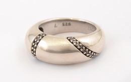 Ezüst(Ag) Masszív Köves Gyűrű, Esprit Jelzéssel, Méret:53, Bruttó: 8,68 G - Bijoux & Horlogerie
