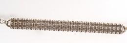 Ezüst(Ag) Köves Glídes Karkötő, Jelzett, állítható Hosszúság, Max: 19,5 Cm, Bruttó: 5,46 G - Bijoux & Horlogerie