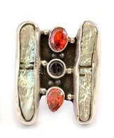 Ezüst(Ag) Extravagáns, Nagyméretű Gyűrű, Jelzett, Méret: 57, Bruttó: 11,8 G - Bijoux & Horlogerie