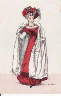 Illustrateur : Rouillier, Mode, Costume Restauration 1824, 2 Scans - Rouillier