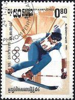 Kampuchea 1984 - Mi 540 - YT 451 ( Sarajevo Olympics : Downhill Skiing ) - Kampuchea