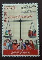 MNH STAMPS Pakistan - World Population Day - 2020 - Pakistan