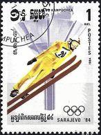 Kampuchea 1984 - Mi 541 - YT 452 ( Sarajevo Olympics : Ski Jumping ) - Kampuchea