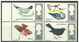 GB - 1966 Birds Block MLH *  Sc 461-4 - 1952-.... (Elizabeth II)