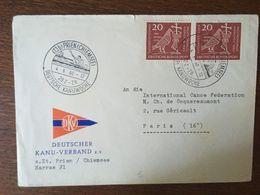ALLEMAGNE 1960 CACHET SEMAINE ALLEMANDE DU CANOË - Lettres & Documents