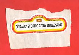 Adesivo 8° RALLY STORICO BASSANO 2013 Auto Cars 16 X 6 Cm STICKERS Voitures Automobiles - Autocollants