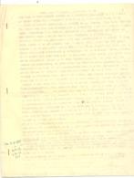 Notes De 9 Pages Dactylographiées Sur La Famille RENSON - SERVAIS ( Verviers ) Depuis 1857 Jusqu'à....1967 - Généalogie - Documents Historiques