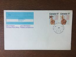 CANADA FDC PREMIER JOUR CODE POSTAL - Omslagen Van De Eerste Dagen (FDC)