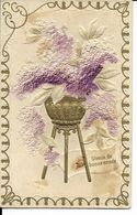 VOEUX DE BONNE ANNEE   CARTE RELIEF   ( ECRITE  1913  ) - Neujahr