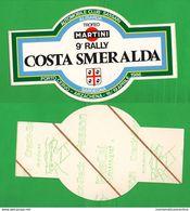 Adesivo 1986 Costa Smeralda Rally Auto Cars Trofeo Martini 15 X 9 Cm STICKERS Voitures Automobiles - Autocollants