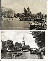 AMSTERDAM    2 CARTES   AVEC BATEAUX - Amsterdam