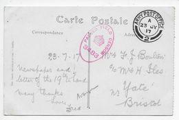 APO  2 Used Rouen 1915-1919 On PC Of Rouen - Marcophilie