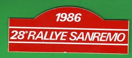Adesivo 1986 San Remo 28° Rally Auto Cars 13 X 5 Cm STICKERS Voitures Automobiles - Autocollants