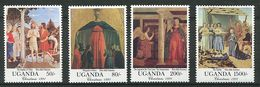 Ouganda ** N° 818 à 821 - Noël. Oeuvre De Piero Della Francesca - Natale