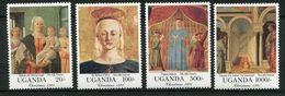 Ouganda ** N° 849 à 852 - Noël. Oeuvre De Piero Della Francesca - Natale