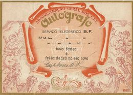 Portugal , Telegrama , Autografo , Telegram , Stationery , Happy Holidays, Baby Jesus , Angels , Christmas - Briefe U. Dokumente