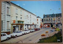 CARTE MONTCEAU Les MINES - 71 - Place & Rue De La Gare - SCANS RECTO VERSO - Montceau Les Mines