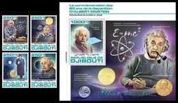 DJIBOUTI 2020 - Albert Einstein, 4v + S/S Official Issue [DJB200208] - Physics