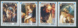 Ouganda ** N° 708 à 711 - Noël. Détails De Tableaux De Rubens - Weihnachten