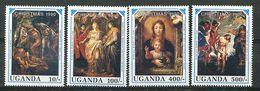 Ouganda ** N° 729 à 732 - Noël. Détails De Tableaux De Rubens - Weihnachten