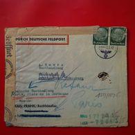 LETTRE DEUTSCHE FELDPOST REICH BRATISLAVA POUR PARIS LIBRAIRIE RIVE GAUCHE 1942 CACHET CENSURE - Slovaquie