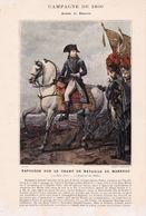 Véritable Gravure Fin 19 ème Siècle : NAPOLEON SUR CHAMP DE BATAILLE DE MARENGO - Documents Historiques