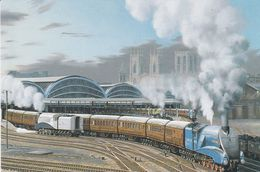 England 4498 Sir Nigel Gresley Leaving York To London - Trains