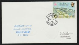 Oman FFC From Muscat To Amsterdam 1976.Arrival Dates On The Back. - Oman