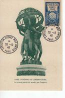 Carte Maximum Avec N°771 Unesco Oblitérée Paris 30/12/46  Cote Yvert : E3   20E - Cartas Máxima