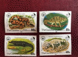 GAMBIE 1981 WWF 4 V Neuf MNH ** 430 A 434 Reptile Abuko  THE GAMBIA - W.W.F.