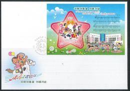 NORTH KOREA 2020 CHILDREN'S DAY SOUVENIR SHEET FDC - Kindertijd & Jeugd