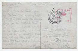 Base Army Post Office 2 Used Rouen January-July 1915 On WW1 French Sentimental PC - Marcophilie