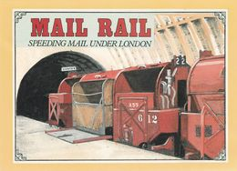 TRAIN - LOCOMOTIVE MAIL RAIL SPEEDING MAIL UNDER LONDON Spec Canc 09-07-1993 - Métro