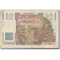 France, 50 Francs, Le Verrier, 1946, 1949-11-03, TB+, Fayette:20.13, KM:127b - 50 F 1946-1951 ''Le Verrier''